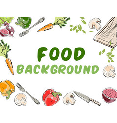 Food background banner vector