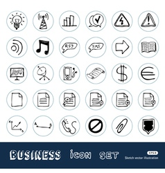 media web icons set vector image vector image
