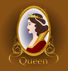 Medieval queen vector