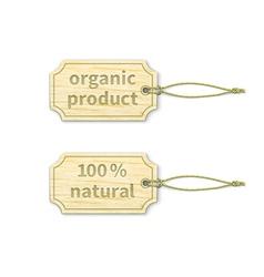 Organic tags set 11 vector image