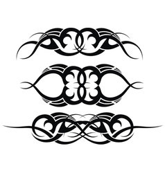 Patterns of tribal tattoo set vector image vector image