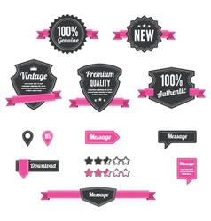 Retro and vintage badges vector