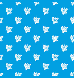 sea star pattern seamless blue vector image