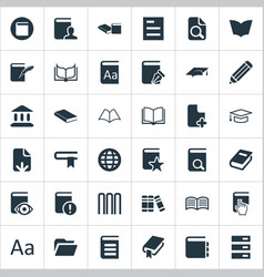 Set of simple books icons vector