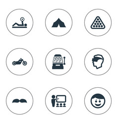Set of simple yoga icons vector