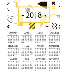 Simple calendar for 2018 and 2019 2020 years vector