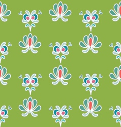 Spring ornaments green vector