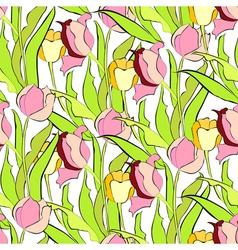 spring seamless wallpaper vector image vector image
