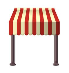 striped awning for shops street cafes vector image vector image