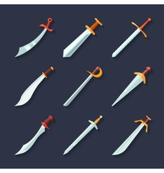 Sword icon flat vector image