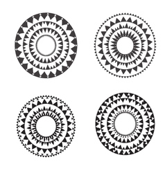 Tribal folk aztec geometric pattern in circle vector