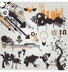 urban grunge design elements vector image vector image