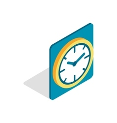 Wall color clock icon isometric 3d style vector