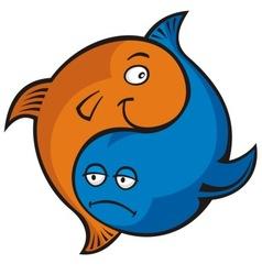 yin yang fish vector image vector image
