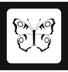 Butterfly with spots on wings icon simple style vector