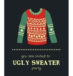 Sweater invitation 3 vector