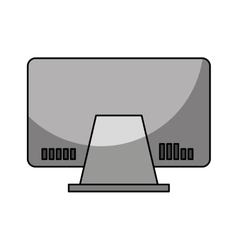 Computer monitor isolated icon vector