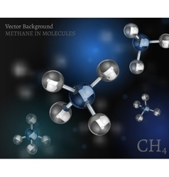 Methane molecules background vector