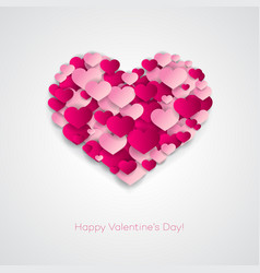 Valentines composition of the hearts vector