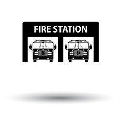 Fire station icon vector