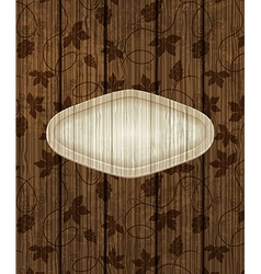 Wooden background with grapes vector image