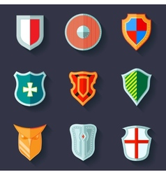 Shield icon flat vector image