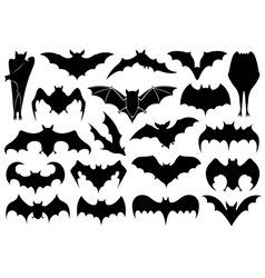 Set of different bats vector