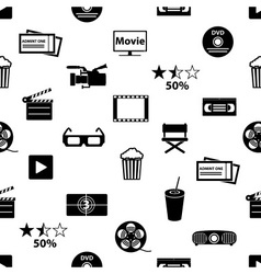 Movie and cinema icons seamless pattern eps10 vector