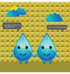 Water drops conversation vector