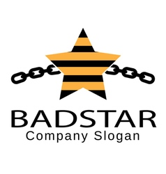 Bad star design vector