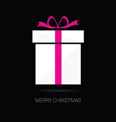 Merry christmas gift box vector