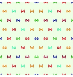 Seamless pattern with bows vector