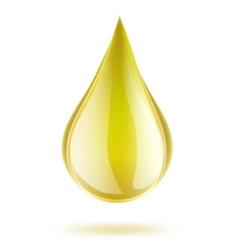 yellow drop of petrol vector image