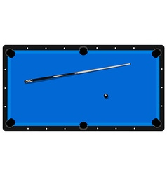 Pool table clue and ball vector image