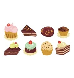 desserts set vector image