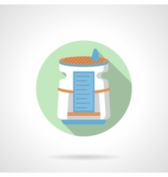 Home air dehumidifier flat color round icon vector