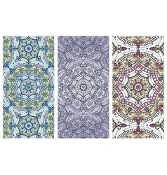 Mandala pattern banner setorientethnic cards vector