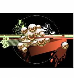 abstract caramel background vector image vector image