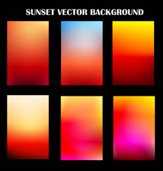 Abstract colorful sunset template vector