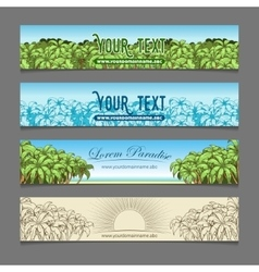 Banner ads palm tree theme vector