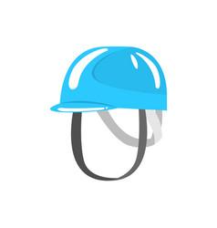 Blue helmet climbing equipment vector