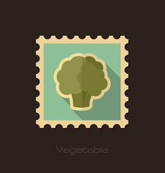 cauliflower flat stamp vegetable vector image vector image