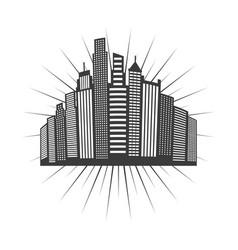 cityscape skyline design vector image