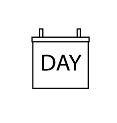daily calendar icon vector image vector image