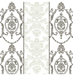 damask ornament pattern set vector image vector image