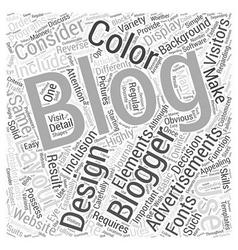 Design elements of a blog word cloud concept vector