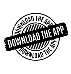 Download the app rubber stamp vector