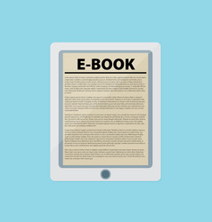 Electronic book flat design concept eps 10 vector