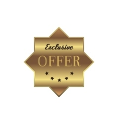Exclusive offer label simple style vector