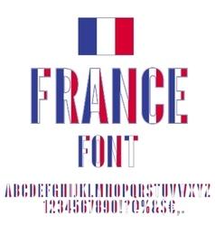 France flag font vector